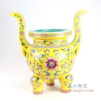 RYLW19 景德镇陶瓷 佛具寺庙五供摆件陶瓷佛前香炉烛台花瓶