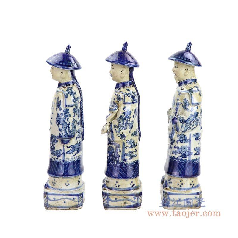 RZKC24 盛江陶瓷 高仿古雕塑陶瓷康熙雍正乾隆像雕塑陶瓷清三代皇帝像
