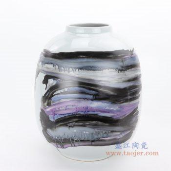 RZMS18-A 景德镇陶瓷 陶瓷新彩花瓶家居装饰摆件