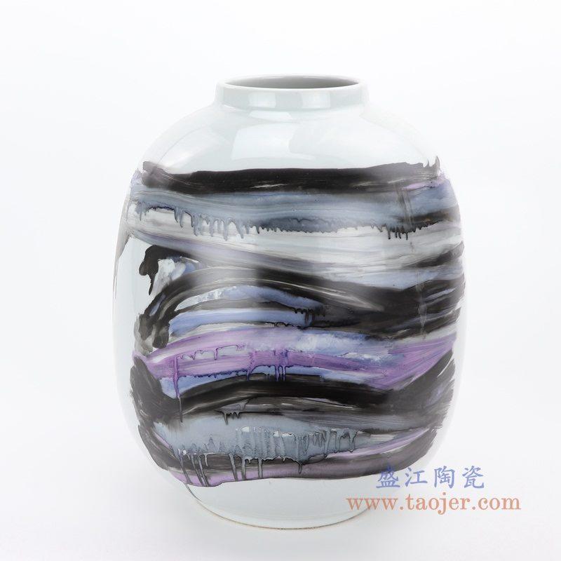 RZMS18-A 盛江陶瓷 景德镇陶瓷新彩花瓶家居装饰摆件