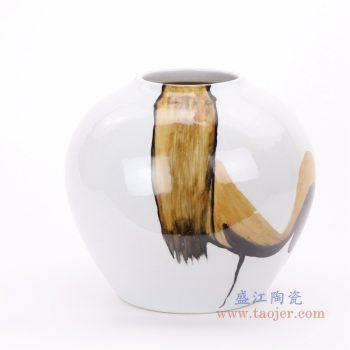 RZMS19-A 景德镇陶瓷 手绘陶瓷摆件 酒店样板房客厅花瓶装饰品