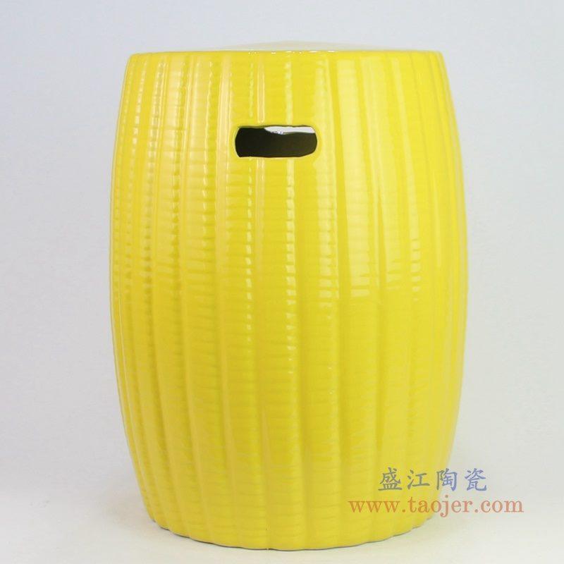 RYIR135_3031 盛江陶瓷 景德镇瓷墩南瓜鼓凳摆件 换鞋瓷凳浴室置物凳