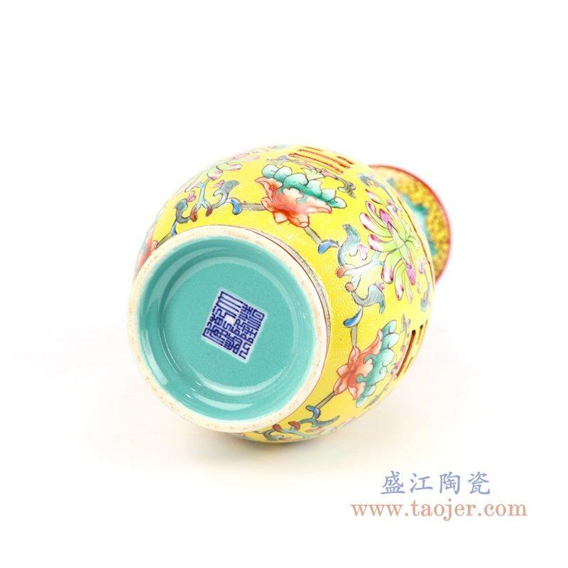 RYLW16 盛江陶瓷 景德镇仿古手绘粉彩陶瓷花瓶