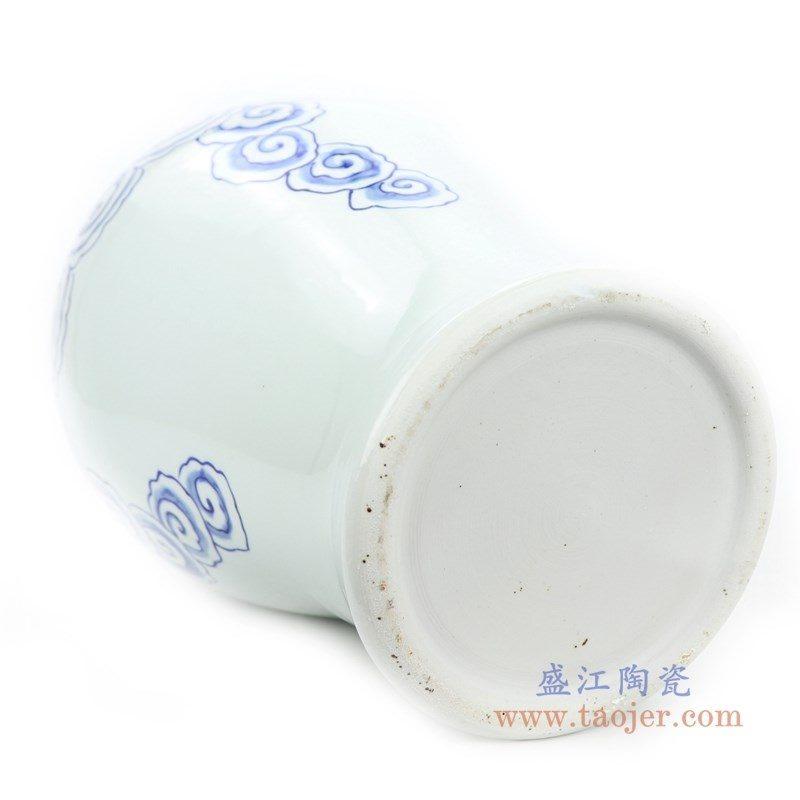 RYNQ252 盛江陶瓷 青花铜钱云纹花瓶