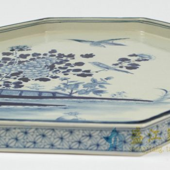RZAJ12-C 景德镇陶瓷 仿古瓷青花盘茶托