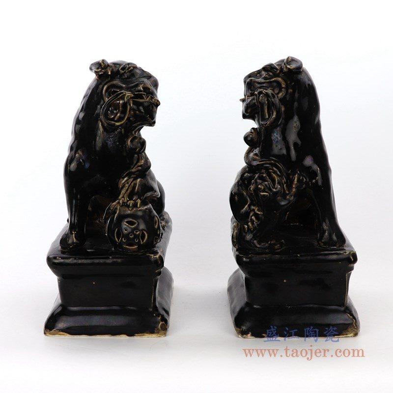RZEI01-B 盛江陶瓷 麒麟貔貅狮子狗摆件