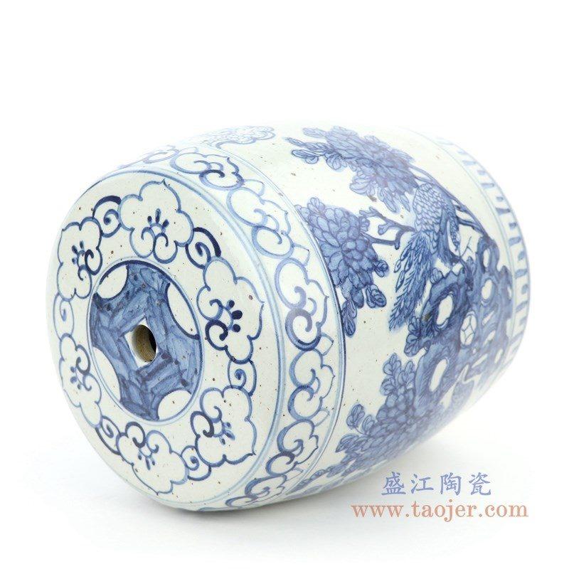 RZFB13 盛江陶瓷 青花花鸟陶瓷凳