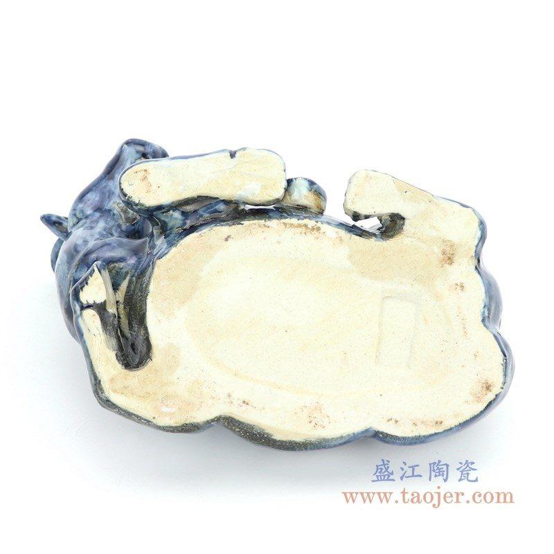 RZGA03 盛江陶瓷 青釉雕塑水牛卧牛一对摆件