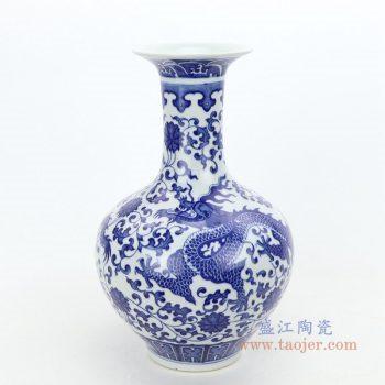 RZGM06 景德镇陶瓷 青花瓷龙纹花瓶