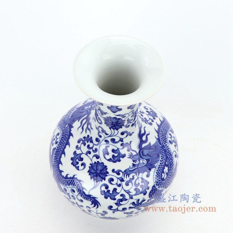 RZGM06 盛江陶瓷 青花瓷龙纹花瓶