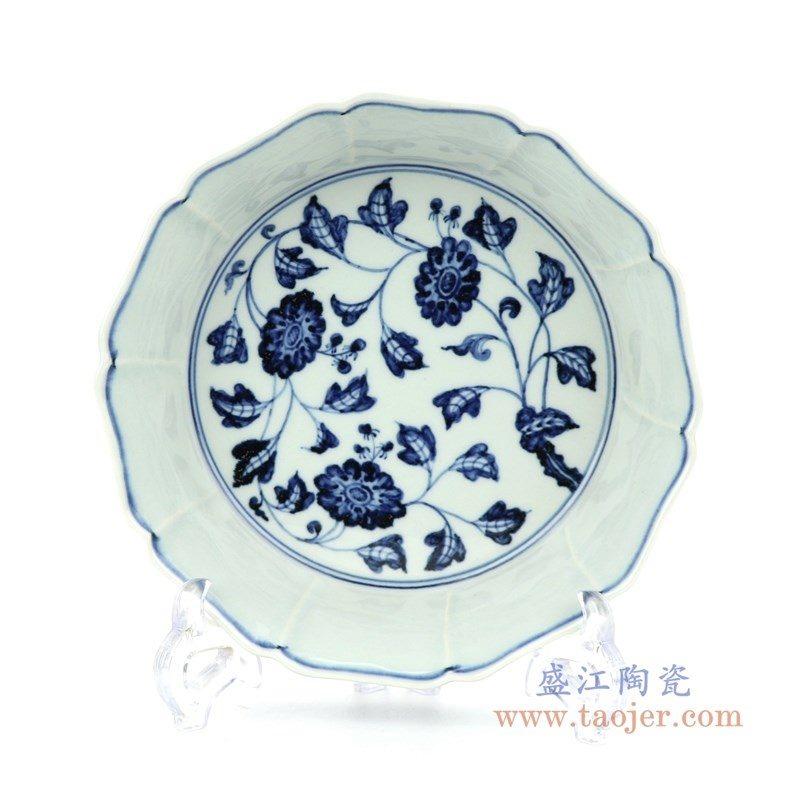 RZHL31-A 盛江陶瓷 大明宣德青花缠枝花卉碗