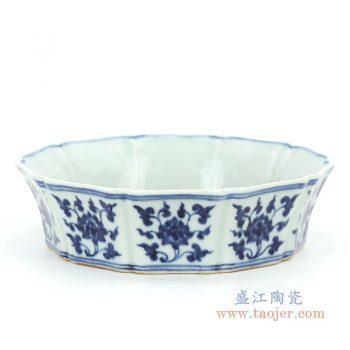 RZHL31-B 景德镇陶瓷 大明宣德年制青花鱼藻纹碗