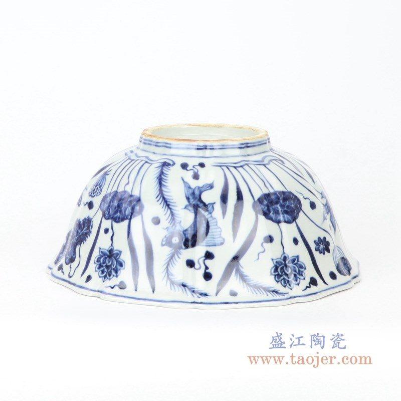 RZHL40 盛江陶瓷 明宣德青花鱼藻碗