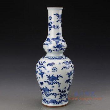 RZJI08 景德镇陶瓷 手工陶瓷青花花鸟蝴蝶家居赏瓶花瓶