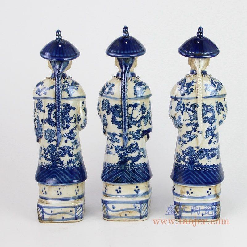 RZKC23 盛江陶瓷 高仿古雕塑陶瓷康熙雍正乾隆像雕塑陶瓷清三代皇帝像