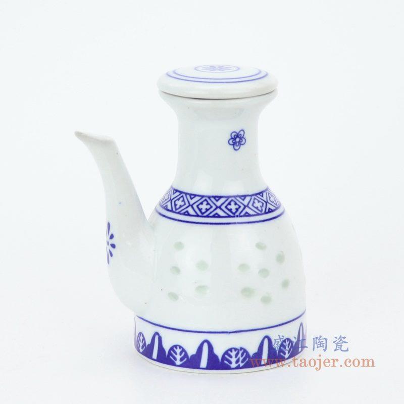 RZKG13 盛江陶瓷 青花玲珑釉下彩陶瓷油壶