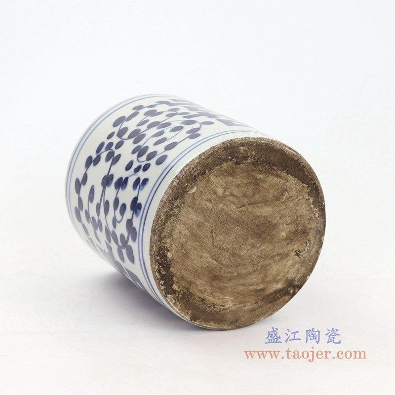 RZKT18-C 盛江陶瓷 青花喜字纹笔筒