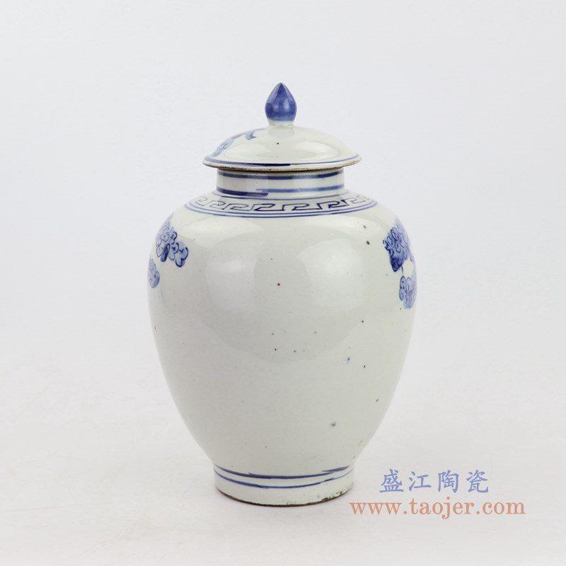 RZKT21-B 盛江陶瓷 青花福禄寿三星人物纹茶叶罐