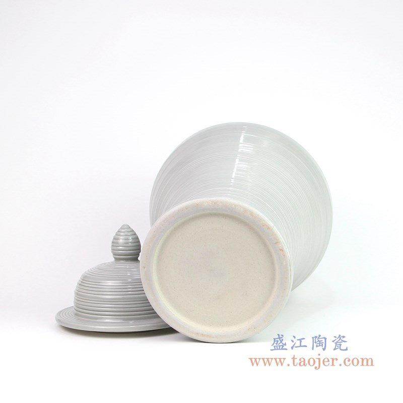 RZMS10 盛江陶瓷 白色将军罐高温颜色釉储物罐