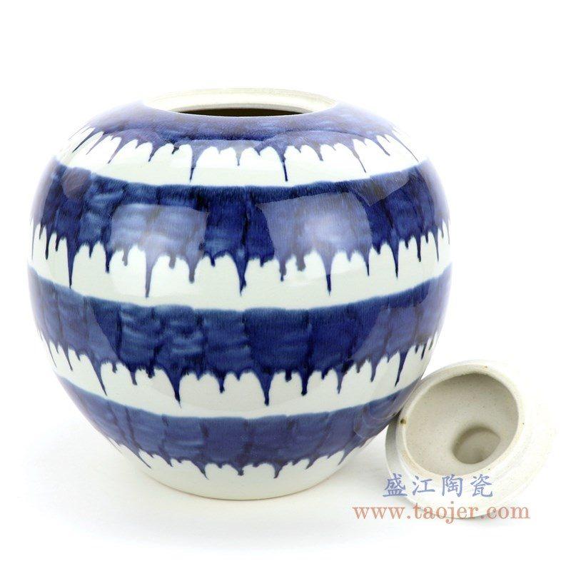 RZMV35 盛江陶瓷 手绘青花茶叶罐