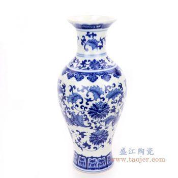RZNJ04 景德镇陶瓷 青花瓷乾隆年制装饰品插花器
