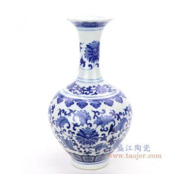 RZNJ06 景德镇陶瓷 仿古手绘青花缠枝莲瓷花瓶