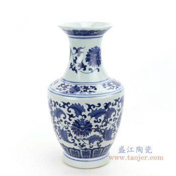 RZNJ07_2318 景德镇陶瓷 仿古青花瓷花瓶插花