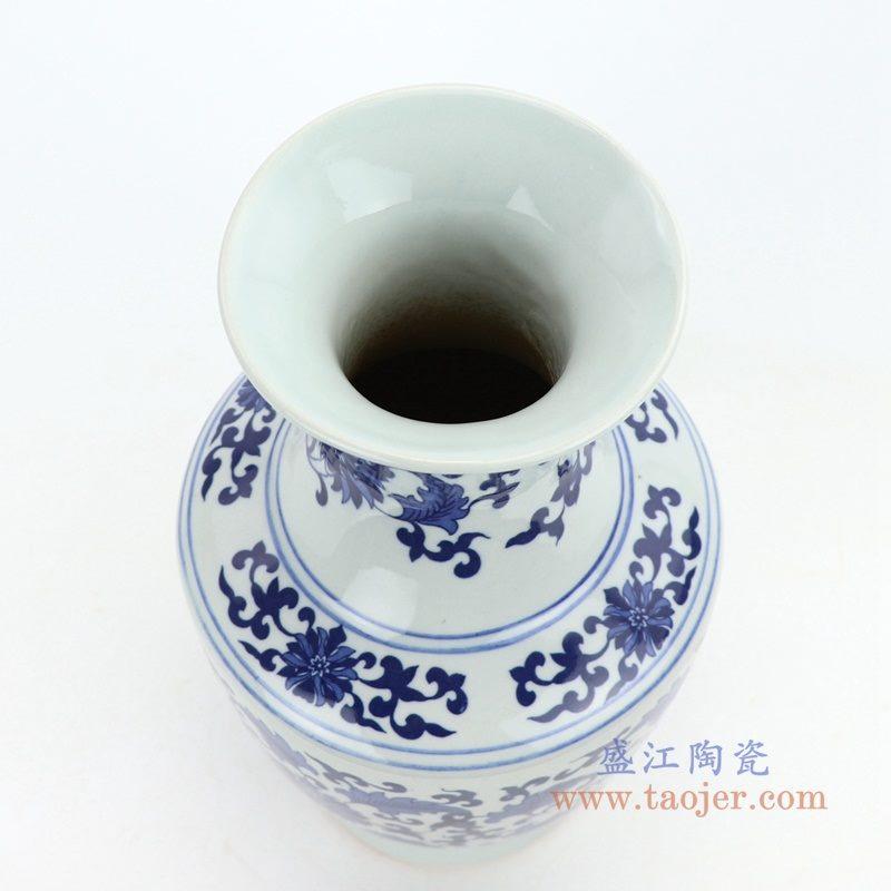 RZNJ07 盛江陶瓷 仿古青花瓷花瓶插花