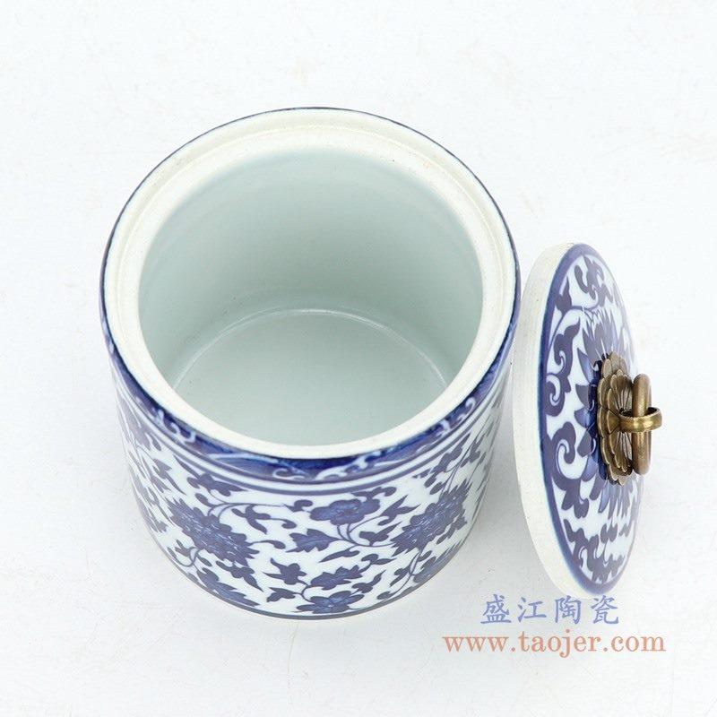 RZNV05 盛江陶瓷 景德镇青花陶瓷茶叶罐普洱饼茶瓷罐储物罐