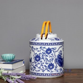 RZPG04-A 景德镇陶瓷 茶壶家用大容量凉茶壶青花玲珑瓷过滤水壶