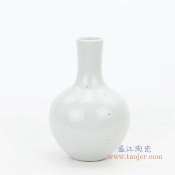 RZPI35 景德镇陶瓷 仿古手绘陶瓷白胎花瓶天球瓶摆件