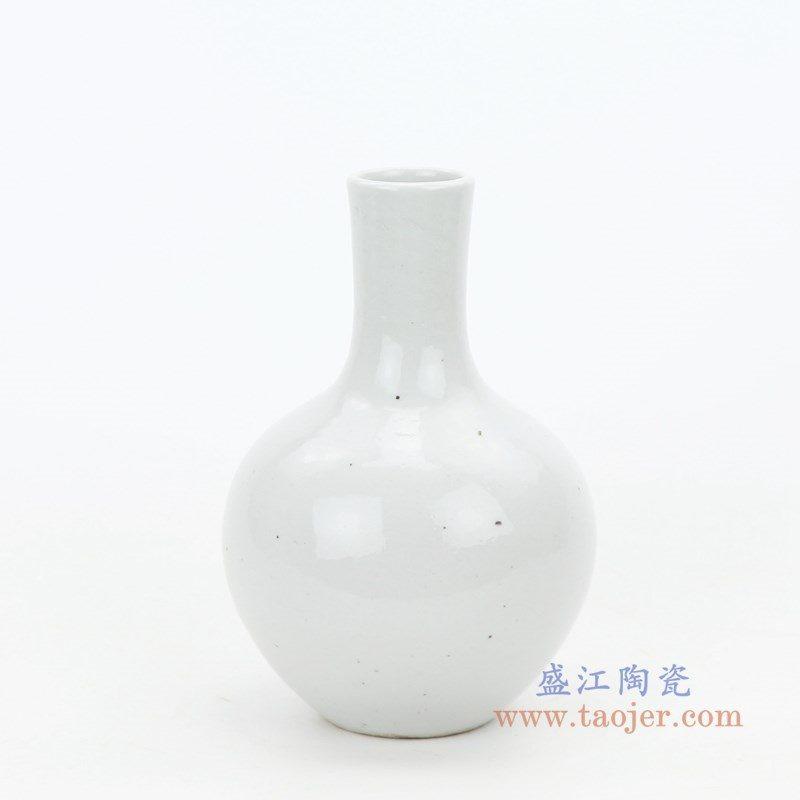 RZPI35 盛江陶瓷 仿古手绘陶瓷白胎花瓶天球瓶摆件