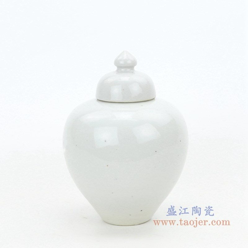 RZPI39 盛江陶瓷 景德镇陶瓷手工白胎茶叶罐