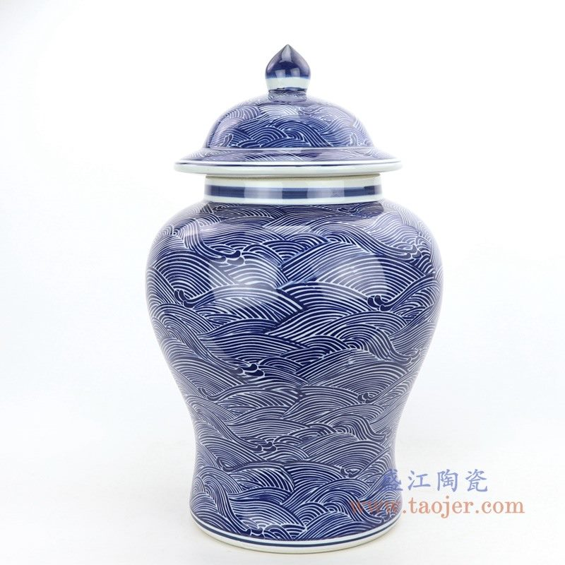 RZPI41 盛江陶瓷 青花陶瓷将军罐