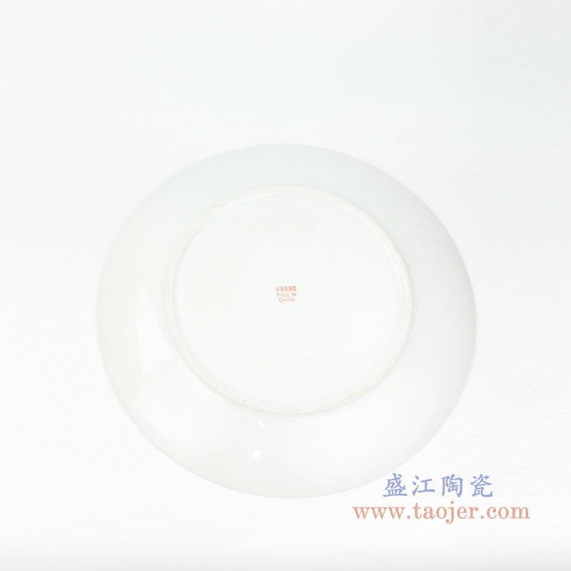 RZPV03-C 盛江陶瓷 8寸景德镇传统粉彩怀古万寿无疆陶瓷赏盘摆件