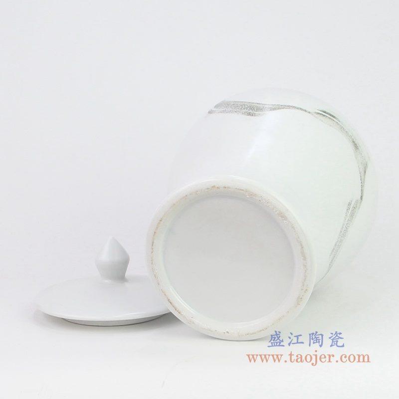 RZQA02 盛江陶瓷 新中式风格陶瓷水墨将军罐摆件
