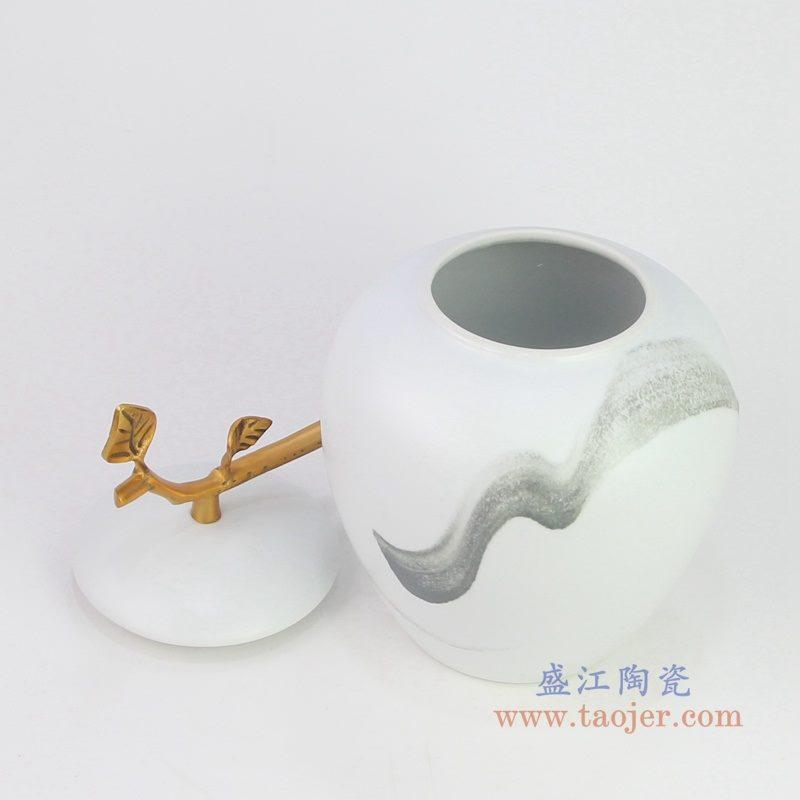 图:瓷 储物罐摆件客厅书房创意软装饰品样板