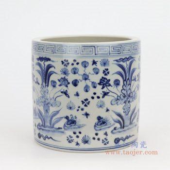 RZFH18 景德镇陶瓷 青花瓷筒陶瓷笔筒