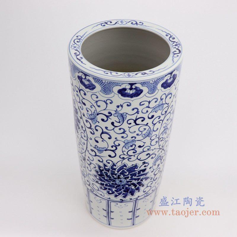 RZFH19-B 盛江陶瓷 手绘仿古箭筒开片裂纹釉书画筒字画筒雨伞插