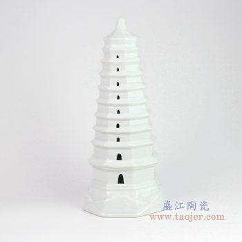 RZKR10-B 盛江陶瓷 文昌塔玲珑塔摆件