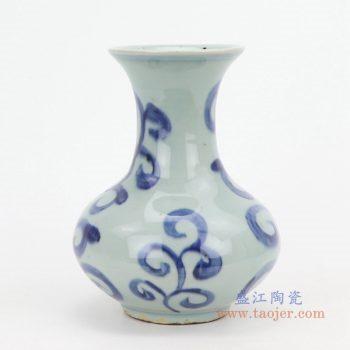 RZQJ02 景德镇陶瓷 青花瓷花瓶 富贵莲 花插中式摆件