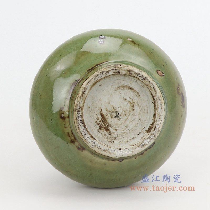 RZQJ06 盛江陶瓷 手工仿古做旧宋朝出土龙泉开片釉赏瓶单个