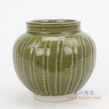 RZQJ07 景德镇陶瓷 仿古做旧宋代龙泉窑小罐