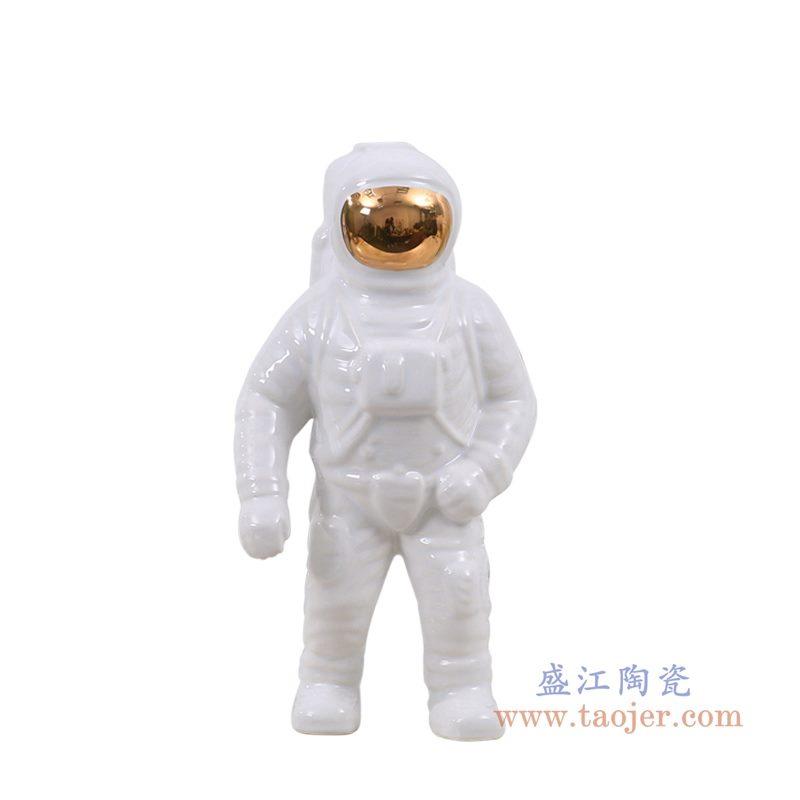 上图:RZQK01-A 盛江陶瓷 太空人宇航员摆件现代创意摆件客厅家居装饰摆设