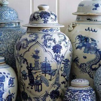 布谷陶瓷|蓝白将军罐