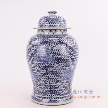 RZKT24-C 景德镇陶瓷 新中式古典陶瓷收纳罐储物罐