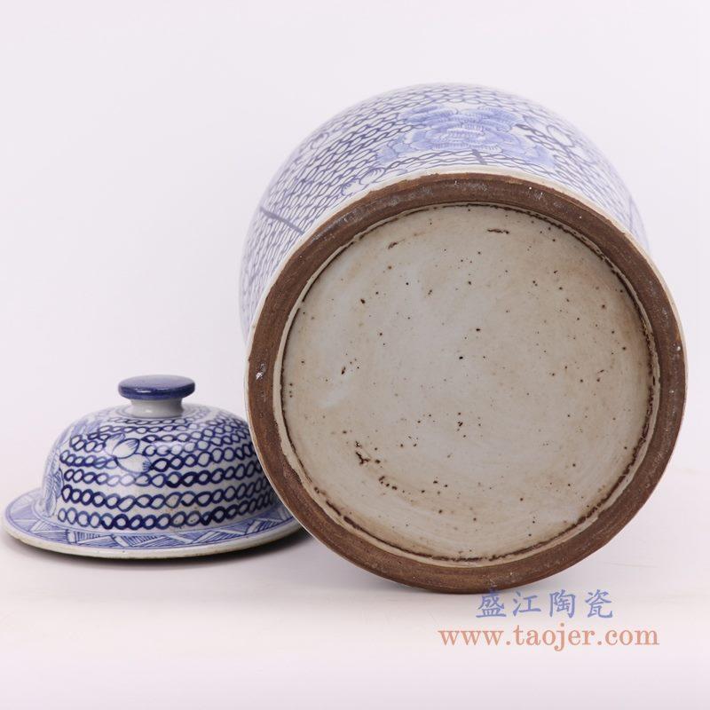 RZKT24-C 盛江陶瓷 新中式古典陶瓷收纳罐储物罐