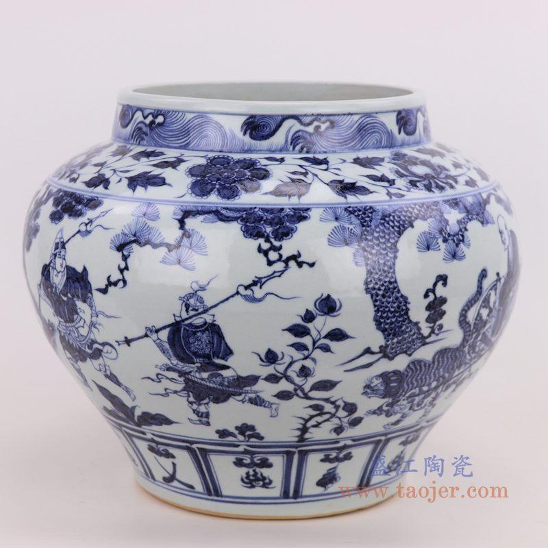 RZQo07 盛江陶瓷 景德镇陶瓷仿古元青花瓷手绘大花瓶