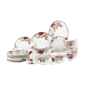 ZPK271-MJ006 景德镇陶瓷 餐具套装高档骨瓷餐具高脚碗盘碟餐具套装60头欧亚风情