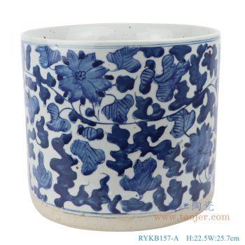 RYKB157-A  仿古 青花缠枝纹笔筒香炉